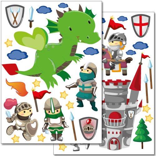 adesivi-da-parete-wandkings-cavalieri-set-adesivi-oltre-40-adesivi-su-2-fogli-din-a4