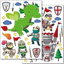 Pegatinas para la pared Wandkings «Caballeros» - más de adhesivos de 40 unidades en 2 hojas DIN A4