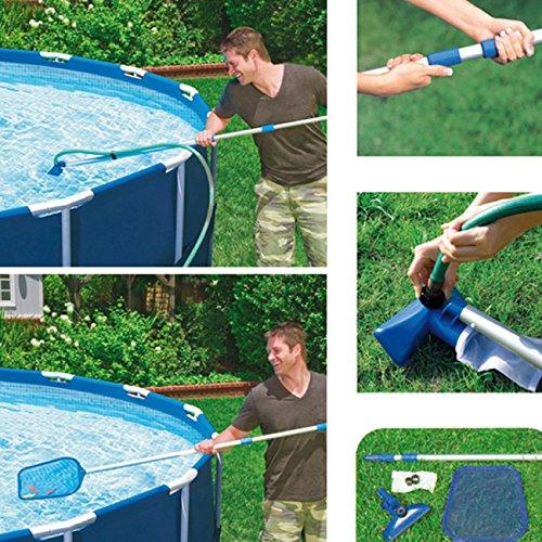 """Pool-Reinigungsset """"Venturi"""" mitTeleskopstange 239cm Skimmer und Kescher"""