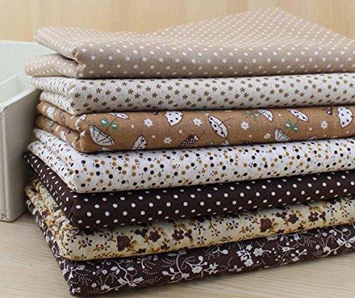 Open Buy Lot de 7 chutes de tissu aux couleurs d'automne 50 x 50 cm Pour travaux manuels, couture, scrapbooking, patchwork, etc.