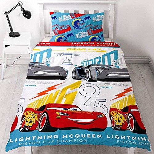 Disney: Kinderbettwäsche Bett Garnitur Cars 3 Lightning McQueen Jackson Storm