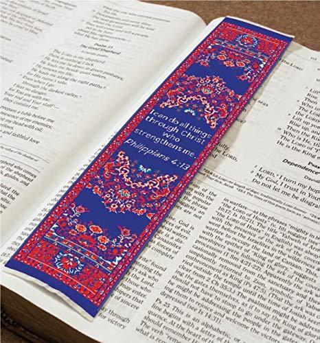 Christian Lesezeichen I can do All Things, gewebt, Mini-Teppich (Lesezeichen Teppich)