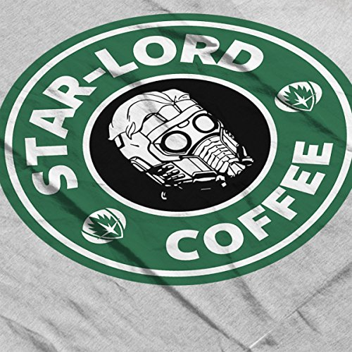 Guardians Of The Galaxy Star Lord Coffee Starbucks Women's Hooded Sweatshirt Heather Grey
