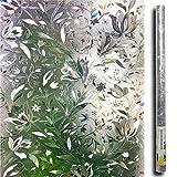 Lemon Cloud 3D Sichtschutz Folie Fenster fensterfolie Muster für Badezimmer Dekoration und Schutz der privatsphäre (tulpe) (90cmx400cm)