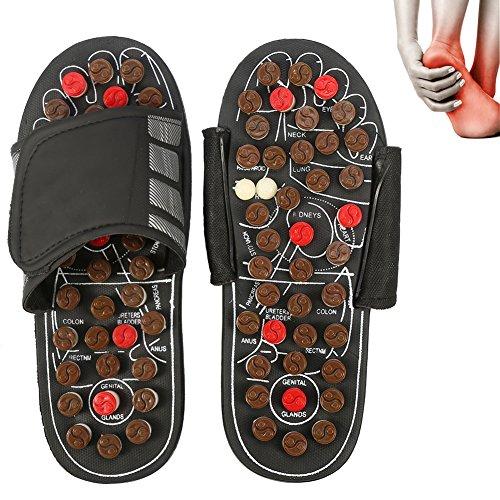 Blut-diagramm (Magnet Therapie Massage Schuhe Fußreflexzonen Akkupressur Blut Aktivierende Gesundheits Massage Pantoffel (42-43-Brown Rotierenden acht Diagramme))