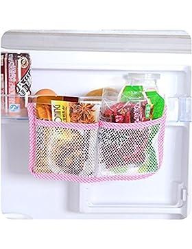 EQLEF® 1 PC-Küche Kühlschrank Organizer Multifunktionsspeicher -Beutel-Netz hängende Tasche, Rosa