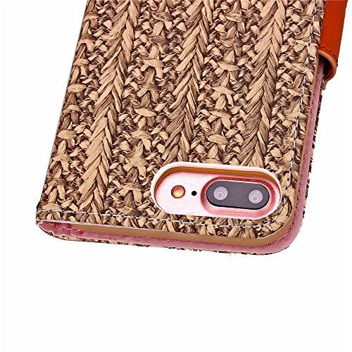 iPhone 7 Plus Hülle,Leder Hülle für iPhone 7 Plus,iPhone 7 Plus Schwarz Leder Handy Tasche Wallet Case [Heavy Duty] [Hinterbauständer Feature] Cover Etui für iPhone 7 Plus 5.5 Zoll 2016,EMAXELERS iPho G G Floral Wood 4