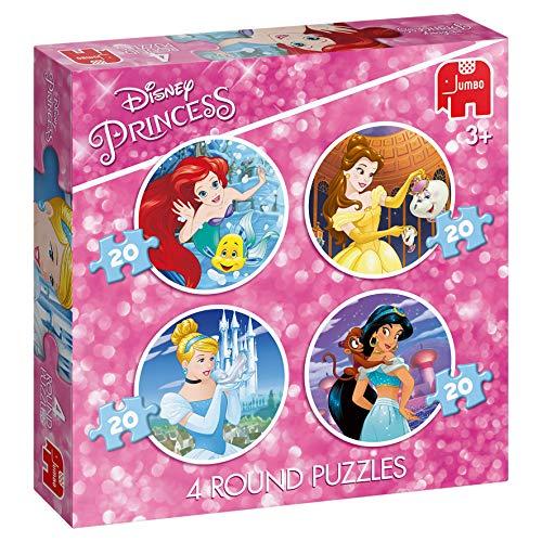 Disney Princess 4in1 Round Puzzle - Rompecabezas (Rompecabezas de Figuras, Dibujos, Niños, Chica, 3 año(s), Interior)