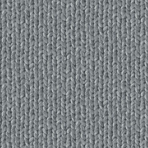 Preisvergleich Produktbild Dutch Wallcoverings 7341–7 Strick Tapete – Grau