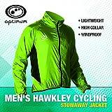 Optimum - Giacca da ciclismo da uomo, verde fluo, XXL