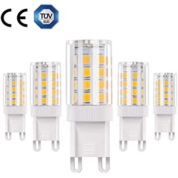 Vicloon G9 Bombilla LED - 4W / 380LM 2835LED, Equivalentes a Lámparas halógenas de 30W,3000K Lámparas LED Blancas Cálidas,Ángulo de Haz de 360°,AC 220-240V ...