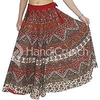 exportaciones hechas a mano falda abrigo alrededor de la falda vestido hippie boho gitana algodón tribal indio Mandala Rapron