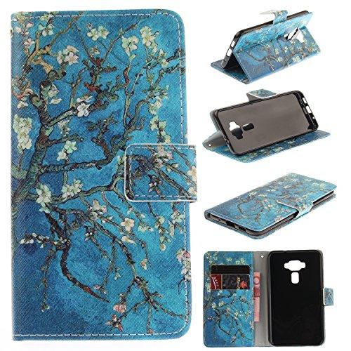 Cover ASUS Zenfone 3 ZE520KL, Lomogo Custodia Portafoglio in Pelle Porta Carta di Credito con Chiusura Magnetica per ASUS Zenfone3 (ZE520KL) - LOTXI27756 #2