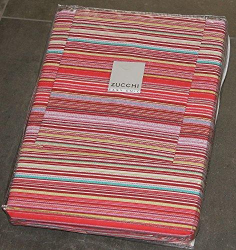 Full Bettwäsche Set Bettbezug für Single bed-zucchi Benton Easy Chic Bag Unterseite Bettlaken und Kissenbezüge multirighe–Achille