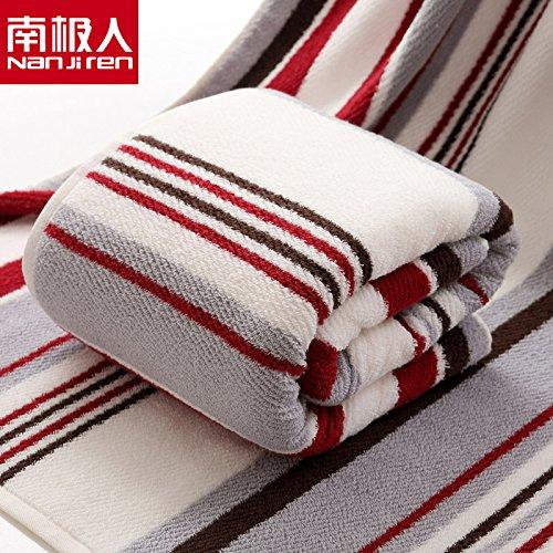 Mangeoo puro cotone addensato grande asciugamano da bagno adulti aumentare lo spessore dell'arcobaleno - blu 90*180cm,il personale un asciugamano - rosso marrone 90*180cm