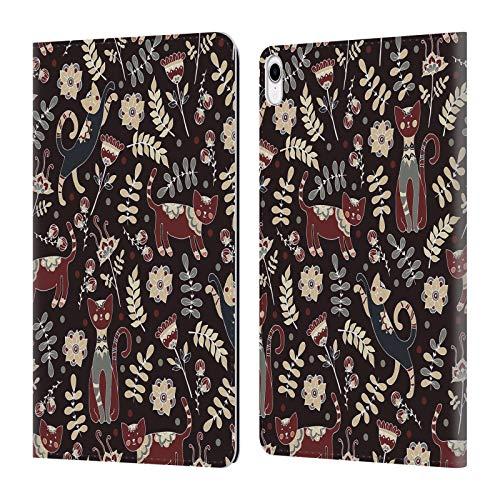 Head Case Designs Offizielle Julia Badeeva Katze 2 Tiermuster 3 Leder Brieftaschen Huelle kompatibel mit iPad Pro 11 (2018) -