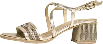 Nero Giardini Scarpe Sandalo Sandali Donna Originale P908253D Peat Pelle PE 2019