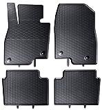 AME - Auto-Gummimatten in schwarz und Wabendesign, Geruch-vermindert und passgenau mit verbauten Befestigungen 863/4C