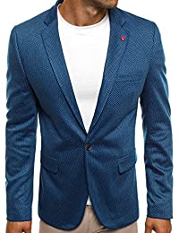OZONEE Herren Sportsakko Sportliche Sakko Jackett Slim Fit Blazer Anzugjacke Business Anzug Kurzmantel BLACK ROCK 022