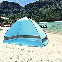 AZLife portátil Anti-UV 3–4Persona Pop up Playa Tienda Sol Refugio con Bolsa de Transporte (Azul)