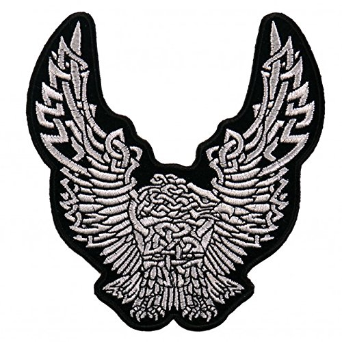 CELTIC EAGLE DOWNWING, High Thread Embroidered Iron-On / Saw-On, Heat Sealed Backing Rayon PATCH - 4