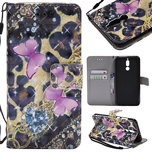 Mate 10 Lite Hülle, Handyhülle Huawei Mate 10 Lite Tasche Leder Flip Case Brieftasche Handy Schutzhülle für Huawei Mate 10 Lite (4)
