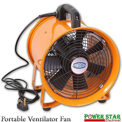 Fan-gebläse-duct Duct (Tragbar Rauch-Staubabscheider Belüftung Air Axial Metall Gebläse gewerblichen Werkstatt Fan (30,5cm Zoll Fan))