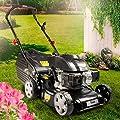 BRAST Benzin Rasenmäher 2,4kW(3,3PS) 41cm Schnittbreite Stahlgehäuse 40L Grasfangkorb Easy Clean 4-Takt Motor-Mäher