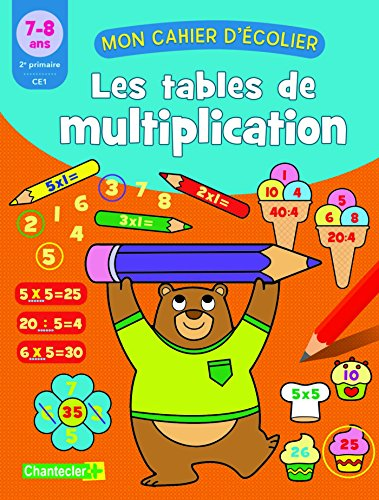 Les tables de multiplication 7-8 ans