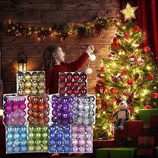 2020 24 Piezas De Adorno De Bola De Árbol De Navidad Con Brillo Colgando Decoración De Adorno De Fiesta En Casa, Hermosos Suministros De Fiesta De Bola Pintada Para Reunión Familiar Decoración