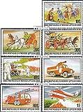 Mongolei 1091-1097 (kompl.Ausg.) 1977 Geschichte der Feuerwehr (Briefmarken für Sammler)