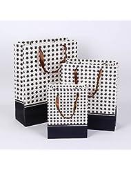 K&C bolsas de regalo de estrellas de papel con asas para proyectos de artes y oficios para colorear regalos de cumpleaños de las compras Paquete de 12