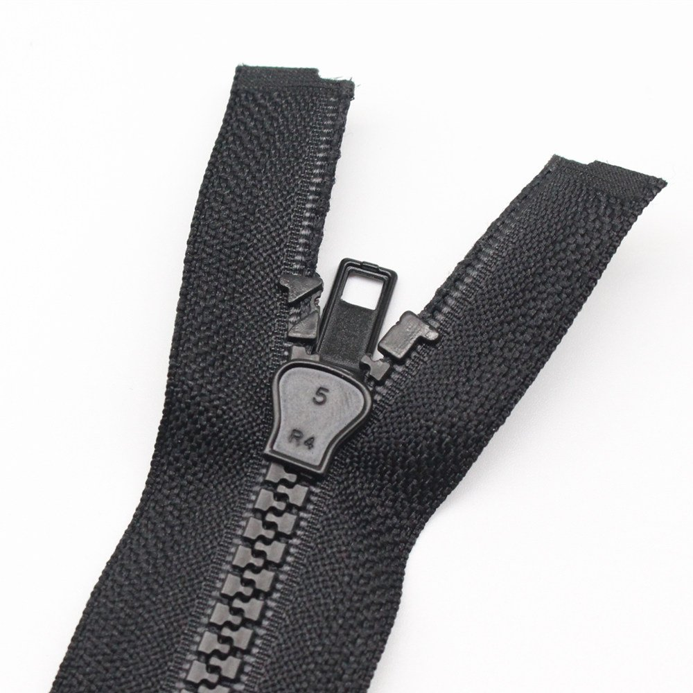 YaHoGa 2 Piezas 50 cm # 5 Separaci/ón Cremalleras para Chaqueta Coser Abrigos Cremallera Negro Cremalleras de pl/ástico Moldeado