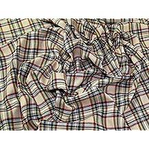 Lomond Plaid Carreaux écossais en polyester Tissu de 1,58 Beige ... c04d79cb6fc