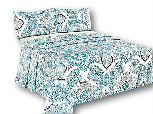 Tache Frozen Forest blau Paisley Bettlaken Set, Baumwolle, Multi, King Size (Teen Schlafzimmer-möbel-sets)