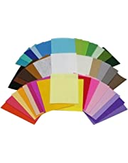 ULTNICE Non-Woven Fabric Squares Sheets for Patchwork Sewing Art and Crafts (Assorted Colour, 15 x 10 Cm) 40 Pieces