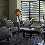 QAZQA Retro Vintage runde Stehleuchte/Stehlampe / Standleuchte/Lampe / Leuchte aus Bambus Dreibein grün mit Kupfer - Barrel/Innenbeleuchtung / Schlafzimmer Holz/Metall Rund LED geeignet E27 Max