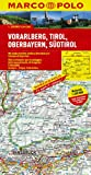 MARCO POLO Karte Vorarlberg, Tirol, Oberbayern, Südtirol 1:200.000 (MARCO POLO Karten 1:200.000) - Polo Marco