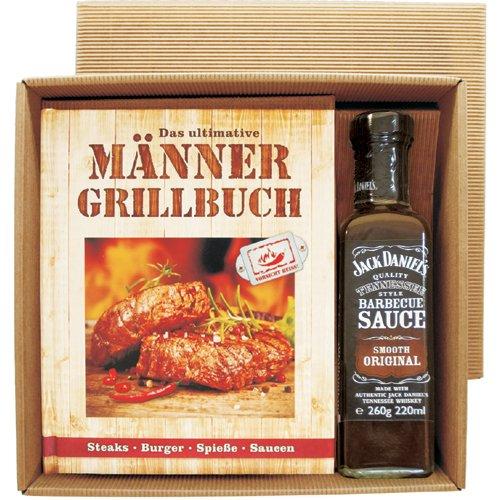 Männer Grill Profi Set's Männer Grillbuch Männergrillbuch (Männer Grill Buch mit Jack Daniel's BBQ sauce 22507)
