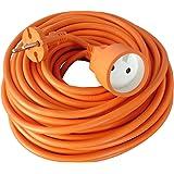 Verlengsnoer voor tuinkabel HO5VVF 2 x 1,5 mm2 oranje 25m