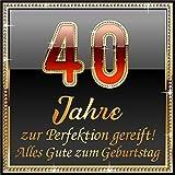 3 St. Aufkleber Original RAHMENLOS® Design: Selbstklebendes Flaschen-Etikett zum 40. Geburtstag: 40 Jahre zur Perfektion gereift!
