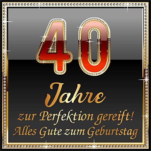 3 St. Aufkleber Original RAHMENLOS® Design: Selbstklebendes Flaschen-Etikett zum 40. Geburtstag: 40 Jahre zur Perfektion - Jahr-etiketten