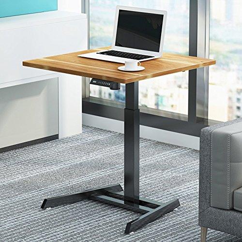 Laptopständer DD Elektrischer Aufzug Tisch Intelligenter Schreibtisch Automatischer Hubtisch Stehpult Einzelner Verstellbarer Schreibtisch -Werkbank (Farbe : Red leaves-80cm)