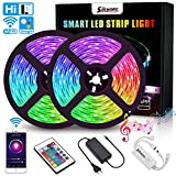 LED Streifen 10M, RGB LED Stripes WiFi LED Bänder 16 Millionen Farben, Sync mit Musik, SMD5050 IP65 mit Fernbedienung, steuerbar via App, Kompatibel mit Alexa, Google Home, Echo, IFTTT, SOLMORE