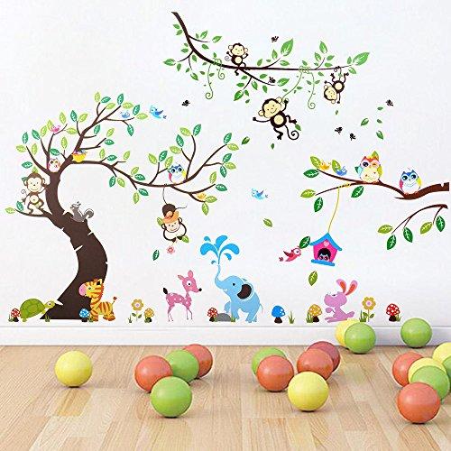 Zoo Motive Wandtattoo Wandsticker Wandfiguren Wand Sticker Aufkleber Deko Zoo Wald Tiere fur Kinderzimmer Spielzimmer