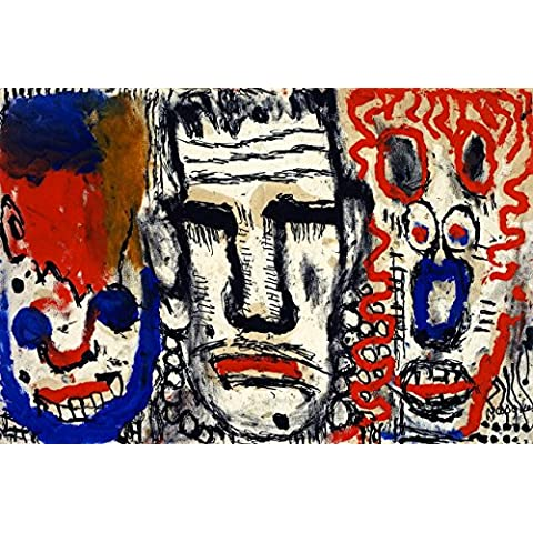 12 x 20,32 cm OdsanArt escolar Art 'de máscaras de' figurativos personas por Louis Póster de Soutter artstore