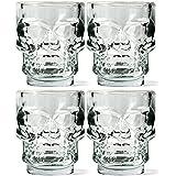 Store2508 Skull Shot Glasses, Set Of 4, 50 Ml, Clear