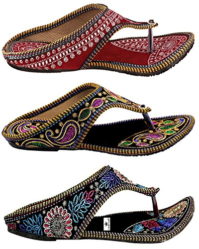 Thari-Choice-Woman-and-Girls-Ethnic-Slipper-Pack-of-3