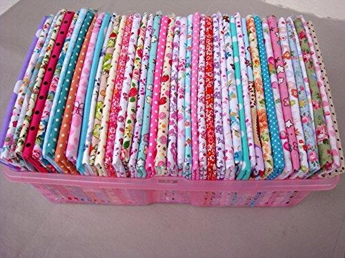 50 piezas de tela de 20 x 25cm, de algodón 100%, con estampados irrepetibles; Tela precortada para acolchado de retazos, de Tilda, telas para muñecas