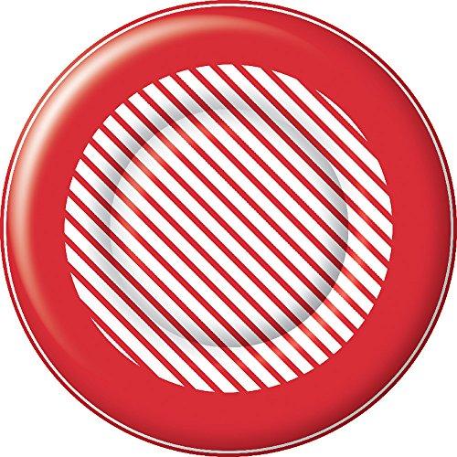Celebrate the Home PK014801 Holiday Papierteller, Papier, Candy Cane Stripe (Weihnachts-dessert-pappteller)
